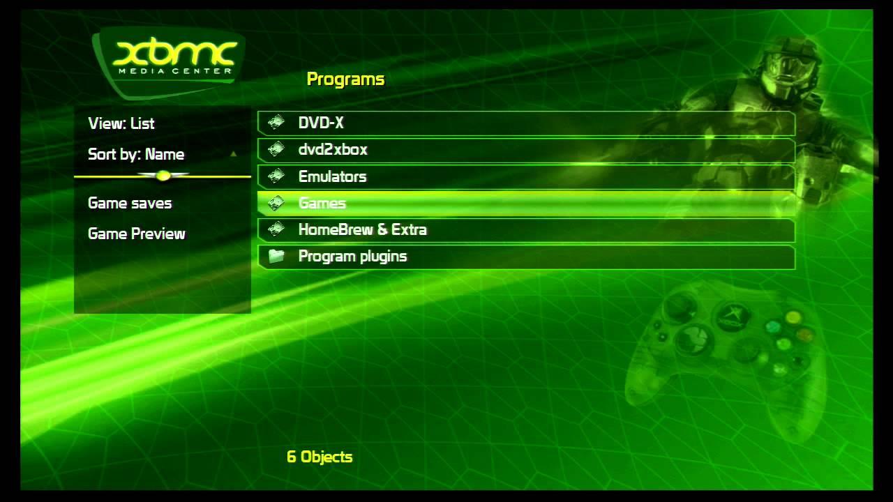 Original Xbox XBMC 3 5 Classic Skin demo