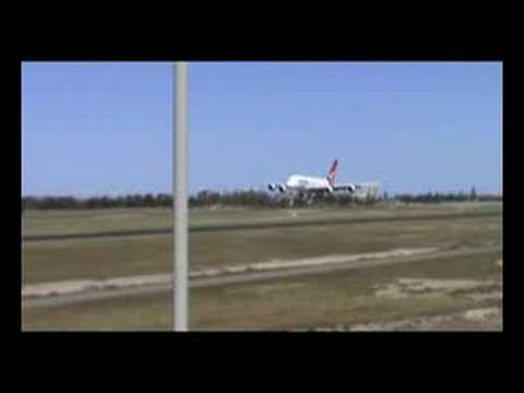A380 Lands at Adelaide YPAD 5DME.NET Video