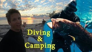 BAHAMAS DIVING AND CAMPING!! | Eating What We Catch! | Part 1 of 2 | EP. 33