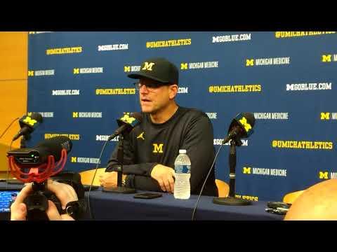 Jim Harbaugh Post Game Press Conference vs MSU