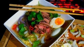 Grilled Beef Noodle Soup Recipe - How To Make Ramen Noodle Soup - Pho Bo - ラーメンのスープの作り方
