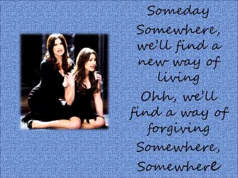 Somewhere (There's a Place for us) lyrics - Glee