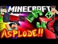 Minecraft BLOW MOBS TO PIECES!! Best Laser Ever!