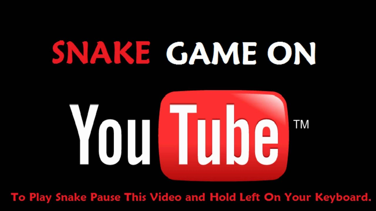 How to play snake on youtube - updated - YouTube