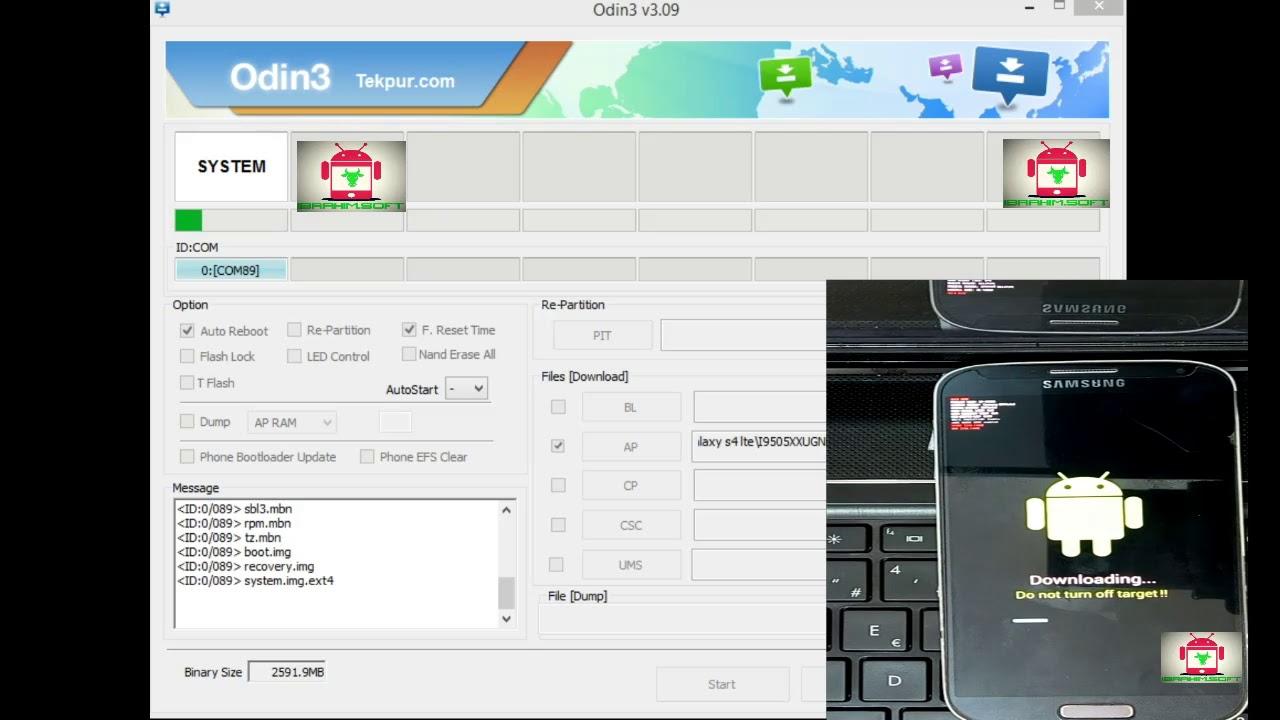 Flash Samsung Galaxy S4 lte lte-A i9505 i9506 Lollipop 5 0 1 odin