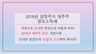 2018년 상장주식 대주주 해명자료 안내문: 2018년…
