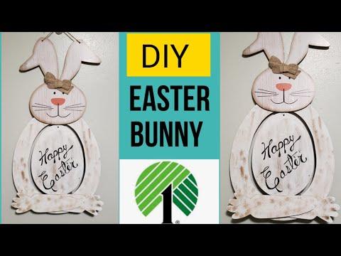 Dollar Tree DIY~How to make Easter Bunny~Farmhouse Decor.