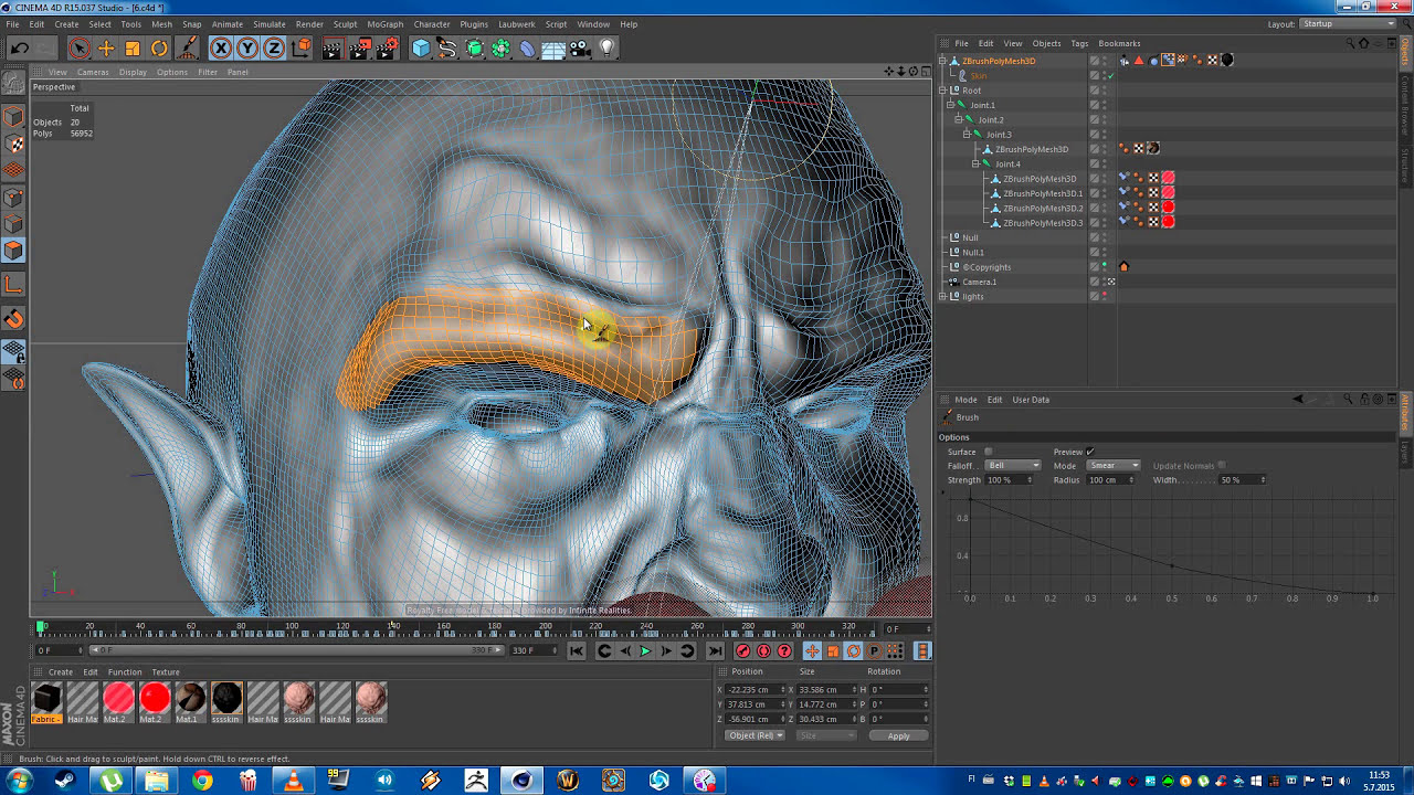 Cinema 4D Expressions made easy with pose morphs - skin rigging