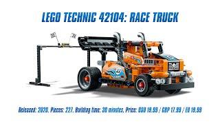LEGO Technic 42104: Race Truck: Speed Build & Review [4K]