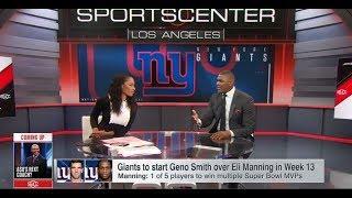 Giants to Start Geno Smith Over Eli Manning in Week 13   Nov 29, 2017