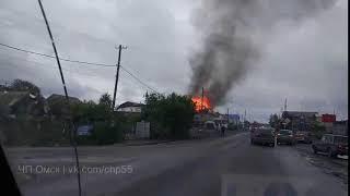 Горит частный дом на ул. Воровского (12.09.2017)