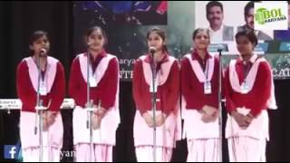 Indian school girls sing a song