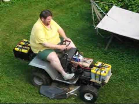 Electric Riding Mower Conversion Youtube