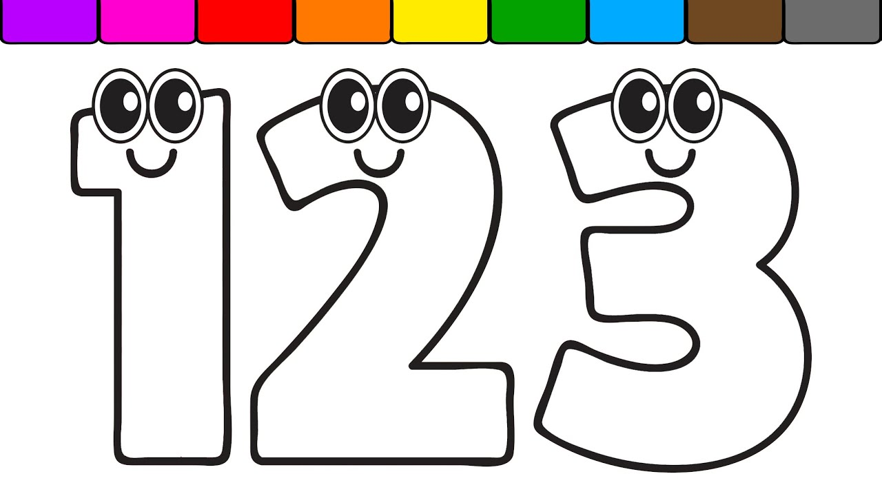 Learn Colors for Kids with this Numbers Coloring Page ... | number coloring pages for toddlers