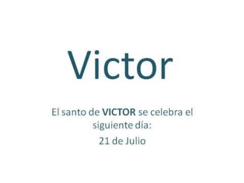 Origen y significado del nombre Victor  YouTube
