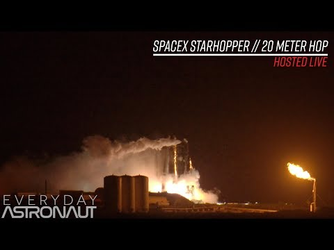 Watch SpaceX's StarHopper hop 20 meters untethered!