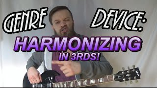 Genre Device: Post-Hardcore/Metal Harmonizing 3rds Guitar Lesson