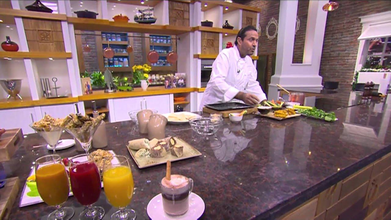 مشروب شيكولاتة-جرانولا-خبز صاج بالموز-خبز صاج بالجبنة والسبانخ : من مطبخ أسامة حلقة كاملة