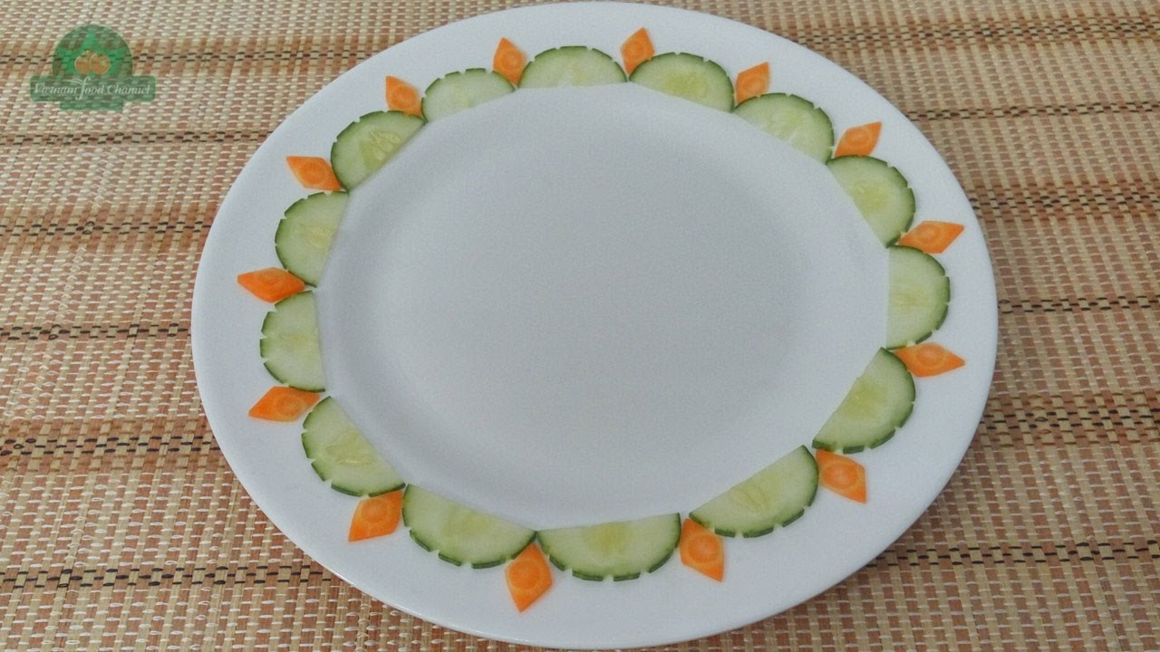 Vegetable Plate Decoration (03) || Vietnam Food Channel ...
