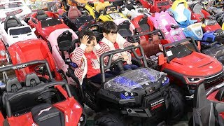 زياد والياس غرزوا عند السيارات في محل الألعاب