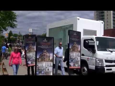 LED Video Truck & Walking Billboards: Queenscorp Port Credit Canada Day 2014