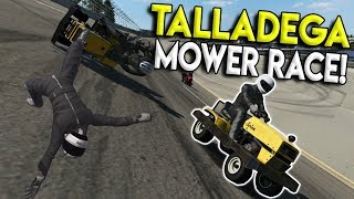 LAWN MOWER TALLADEGA RACE & SHORTEST TRACK! - Next Car Game: Wreckfest Gameplay - Wrecks & Races