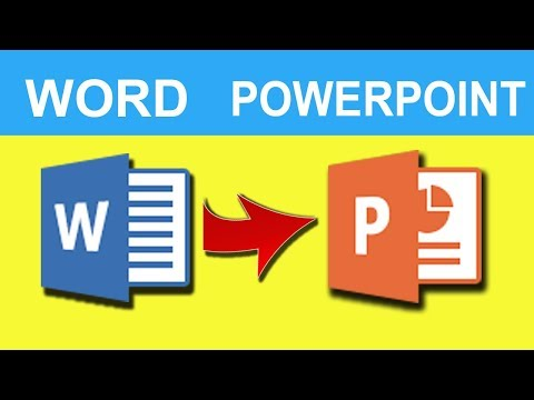 How To Convert Word To Powerpoint Slide 2019