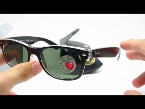 3485bed9e29 Ray-Ban RB 2132 Unboxing New Wayfarer Top Black on Transparent Polarized  Sunglasses