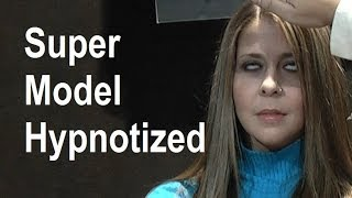 Super Model Hypnotized On Live TV - Rapid Induction Hypnosis Demonstration