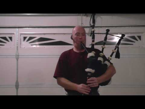 First time playing the bagpipes.
