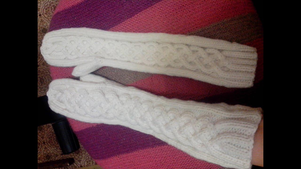 схемы вязания варежек спицами ажурные косы