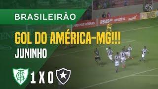 GOL (JUNINHO) - AMÉRICA-MG X BOTAFOGO - 20/05 - BRASILEIRÃO 2018