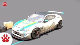 Desert Cobra Cooper Chvrolet BRZ Drift Wagon | Super Cars for Kids | #h Colour Song for Kids