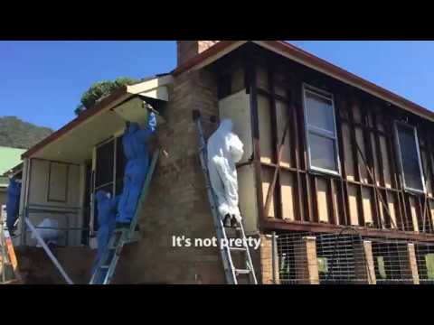 Asbestos Cladding Sheet Removal from Complete House