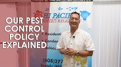 Hawaii Property Management: Our Pest Control Policy Explained