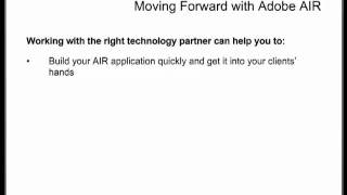 INM Webinar: Understanding the Potential of Adobe Integrated Runtime (AIR) - Part 4