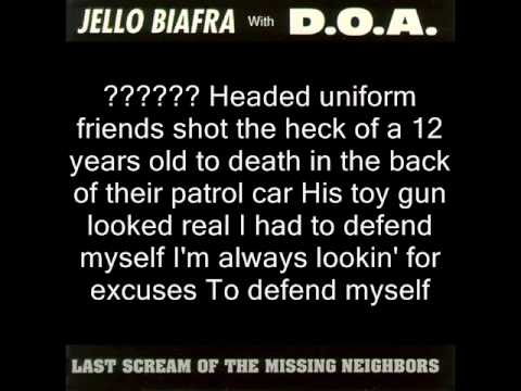 Jello Biafra with D.O.A. - Wish I was in El Salvador : with lyrics