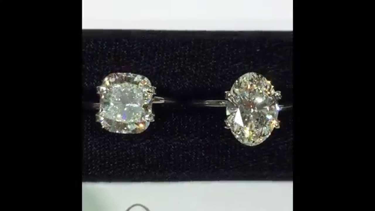 3 Carat Oval Cushion And Square Emerald Loose Diamonds