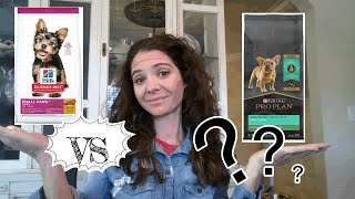 Dog food review: Purina Pro Plan Small Breed Puppy vs Science Diet Small Breed Puppy