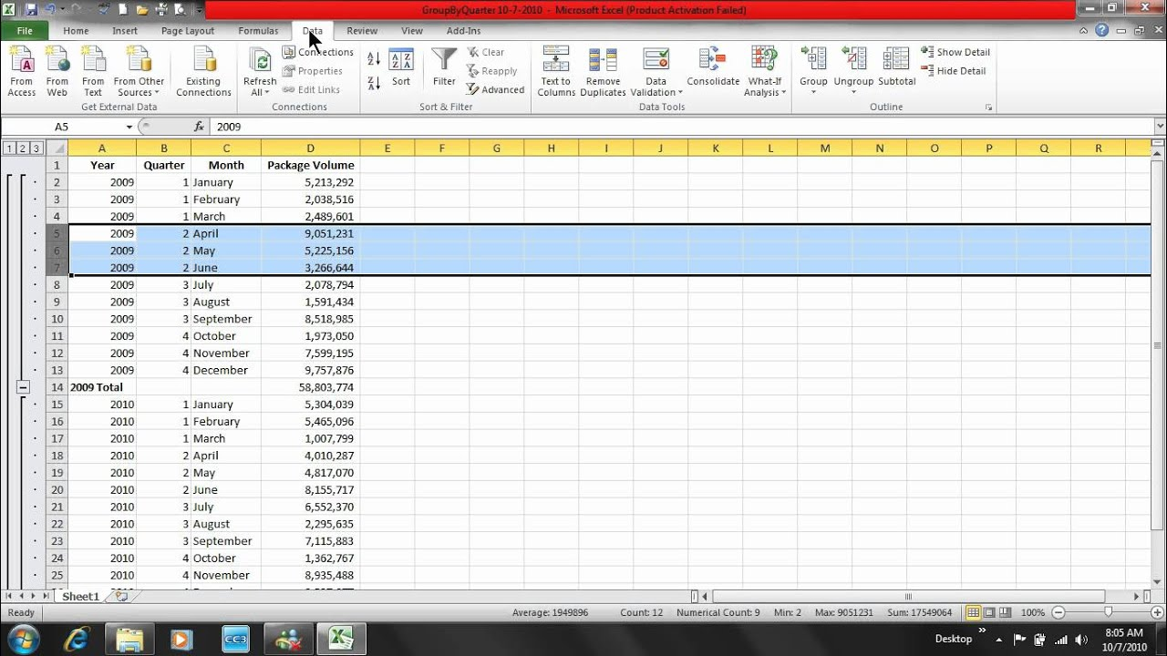myeducator excel answers chapter 6