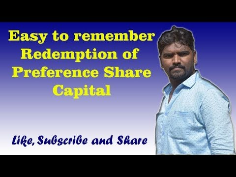 Redemption of Preference Share Capital