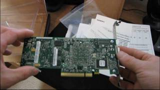 Adaptec 5445 SATA SAS RAID Controller & MaxIQ SSD Cache Unboxing & First Look Linus Tech Tips