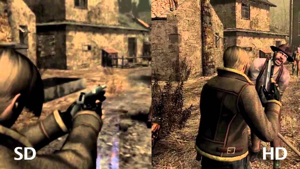 Resident Evil 4 HD vs SD gameplay