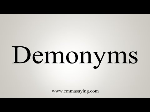 How To Pronounce Demonyms