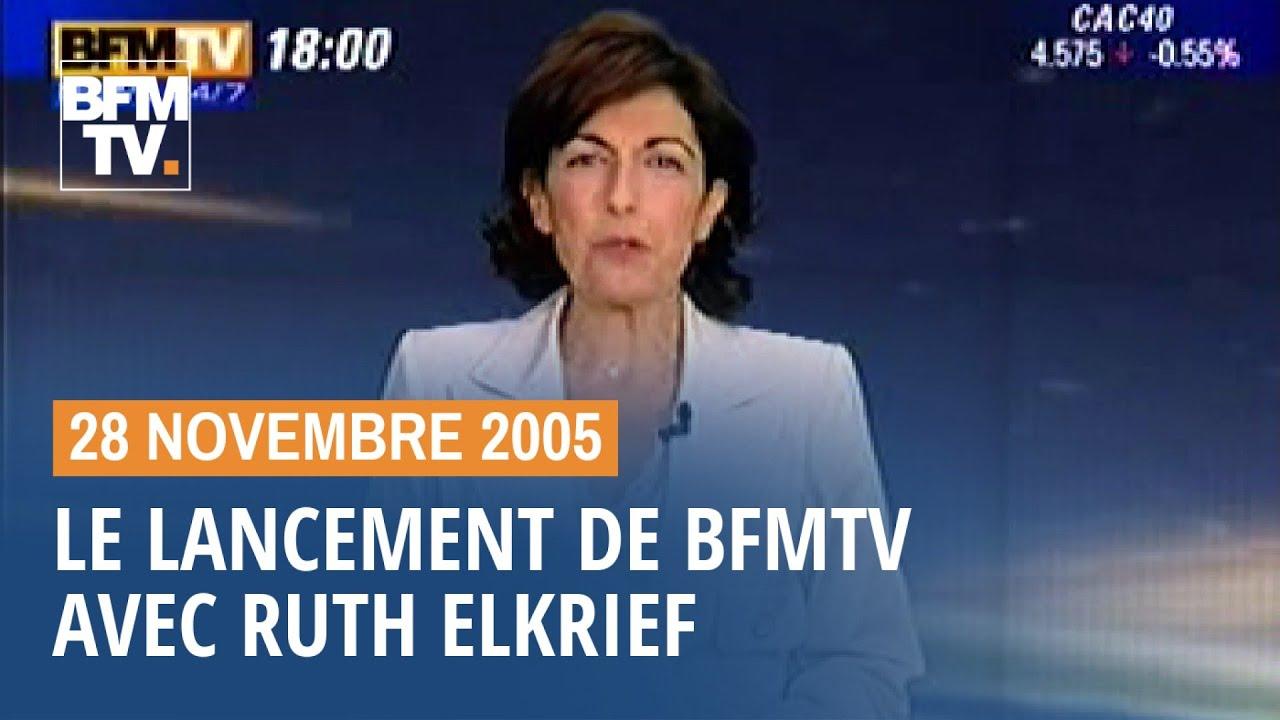 Les images du lancement de BFMTV en 2005