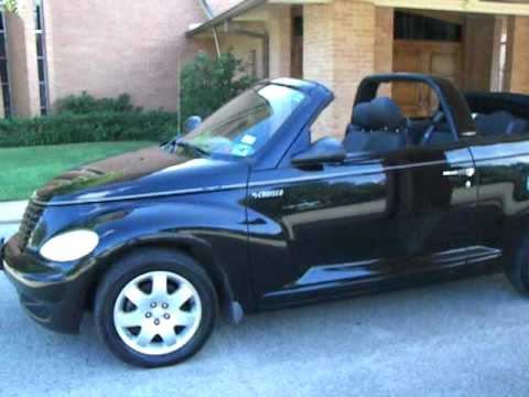3142amg 2005 chrysler pt cruiser convertible black youtube. Black Bedroom Furniture Sets. Home Design Ideas
