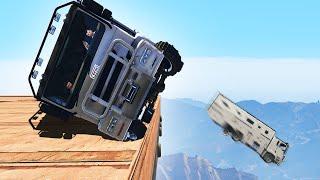 TRUCKS vs. TRUCKS CHALLENGE! (GTA 5 Funny Moments)