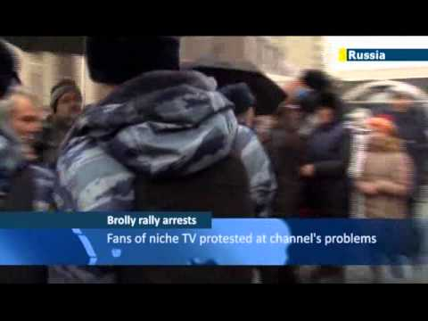 Kremlin Crackdown on Independent Media: Moscow umbrella protest arrests dampen Sochi PR