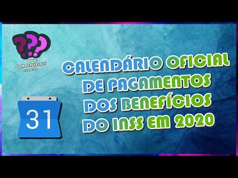 CALENDÁRIO 2020 DE PAGAMENTOS BENEFÍCIOS INSS | Como Fazer Fácil #Dicas