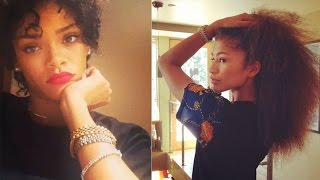 Celebrities Show Off Their Natural Hair! (Zendaya, Rihanna, Nicki Minaj, Beyonce, etc.)